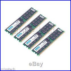 16GB (4x 4GB) PC2-3200R Dell PowerEdge 1800 1850 2850 SC1425 SERVER RAM KIT