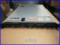 DELL POWEREDGE R630 1U RACK SERVER 2x E5-2630L v3, 64GB RAM, H330 RAID, RAILS INC