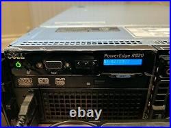 DELL POWEREDGE R820 dual xeon e5-4650 64GB RAM 16 bay rail kit bezel 1100w 10Gb
