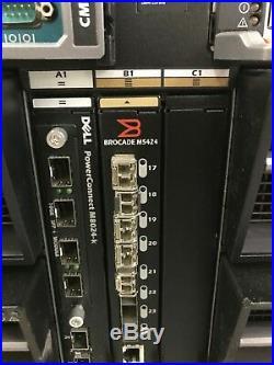 DELL PowerEdge M1000e Chassis v1.1 with 16 x M620 4096GB MEM 32 x E5-2670 8 Core