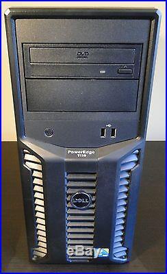 DELL PowerEdge T110 Server X3450 Xeon 2.66 GHz 16GB RAM 160GB+250GB+1TB HD