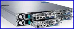 Dell PowerEdge C6220 4 Node server 8 x XEON 8-CORE E5-2660 192GB RAM Rack Mount