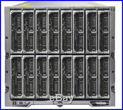 Dell PowerEdge M1000E Chassis With 16x M620 Blade Server 32x E5-2660v2 1152GB Ram