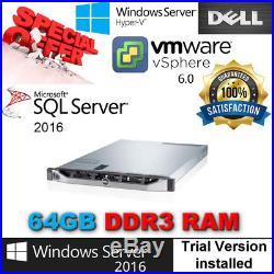 Dell PowerEdge R420 2x E5-2450L 1.80Ghz 8CORE 64GB RAM NO VAT TAX FREE