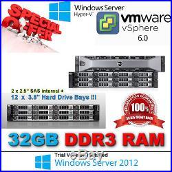 Dell PowerEdge R510 (12 bays) 2x E5620 xeon 2.40Ghz 32GB RAID Perc H700 512MB