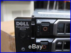 Dell PowerEdge R515 Dual AMD 4122 8 Core 2.2GHz 16GB RAM 14 Bay Rack Server