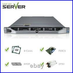 Dell PowerEdge R610 II Server 2x QC 2.4GHz E5620 / 64GB RAM / 2x PSU/ PERC6i