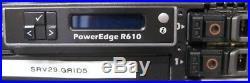Dell PowerEdge R610 X5670 6 Core CPU@ 2.93GHz 4GB RAM with 2x 146GB HDD, iDRAC6