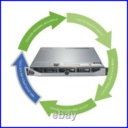 Dell PowerEdge R620 Server 2x 2.00GHz E5-2620 12 Cores 64GB H310 RPS 3x300GB HDD