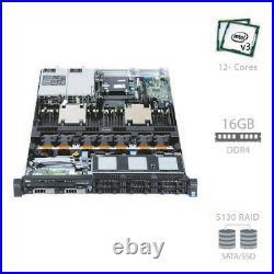Dell PowerEdge R630 Server 2x E5-2603 v3 12 Cores 16GB RAM 2x 500GB SATA