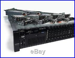 Dell PowerEdge R720 SFF 16-Bay Dual E5-2670 192GB RAM 2.4TB H710 2x PWS Rail Kit