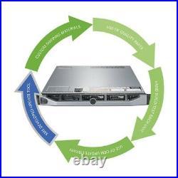 Dell PowerEdge R720 Server 2x E5-2603 V2 1.80GHz = 8 Cores 32GB H710 8 x Trays