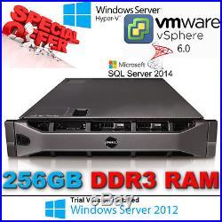 Dell PowerEdge R810 4x E7-4860 2.26Ghz 10CORE 256GB RAM PERC H700 40-CORES 1.2TB
