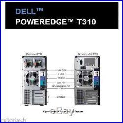 Dell PowerEdge T310 X3430 2.4Ghz QuadCore 32GB DDR3 4x160GB 7.2K RPM PERC6/i Bat