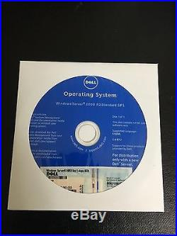 Dell PowerEdge T410 & Windows Server 2008 R2 Standard SP1 1-4cpu 5Clt 5CAL COA