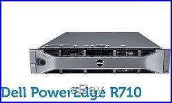 Dell Poweredge R710 6 Bay Server Dual Quad Core Xeon X5570 32gb Perc H700 Raid