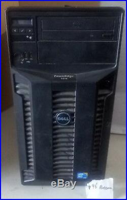 - Dell T310 PowerEdge server(E09S, JC4KT) DUAL CORE X3440 CPU 12GB RAM, NO HDD
